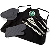 Picnic Time Colorado State BBQ Apron Tote Pro, Black/Miscellaneous