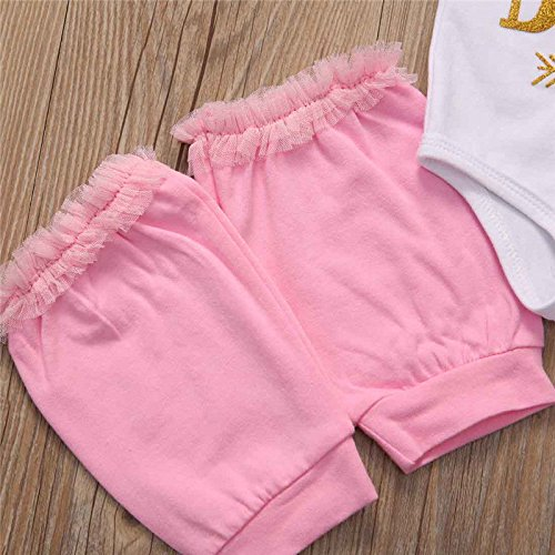 Headband,Leg Warmer Set Aliven I Found My Prince His Name is Daddy Newborn Baby Girl Cotton Bodysuit Floral Shorts