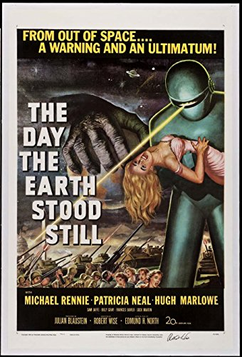 THE DAY THE EARTH STOOD STILL SCIENCE FICTION CLASSIC 1951 1-SHEET