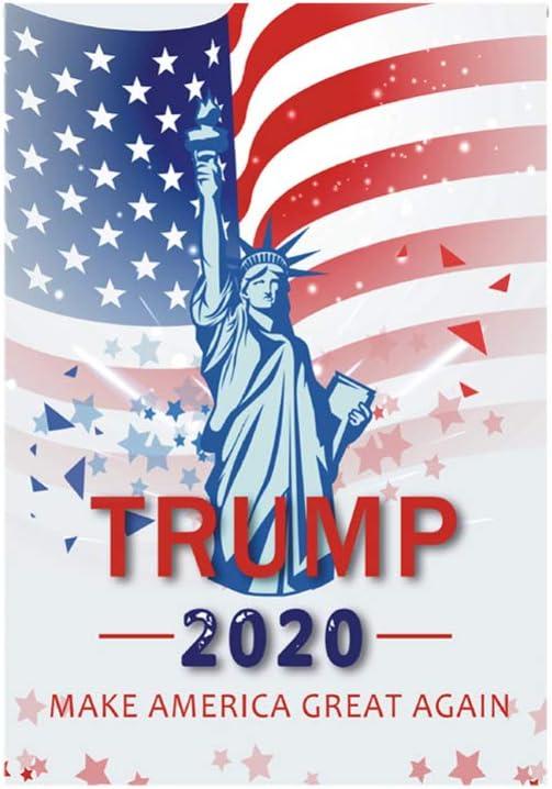Amosfun President Donald Trump 2020 Flag Keep America Great Republican Conservative Flag for Yard Lawn