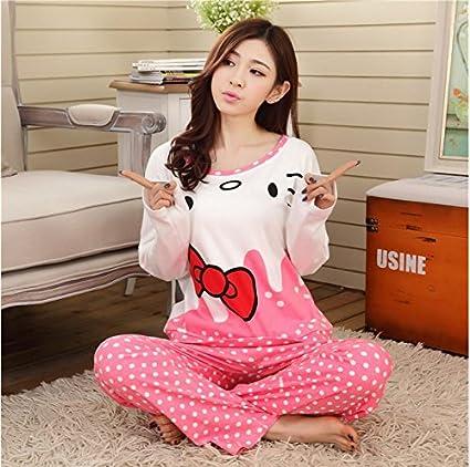 MH-RITA Cartoon Juegos Pijama mujer delgada 2016 Otoño&Invierno camisón de manga larga niñas pijamas