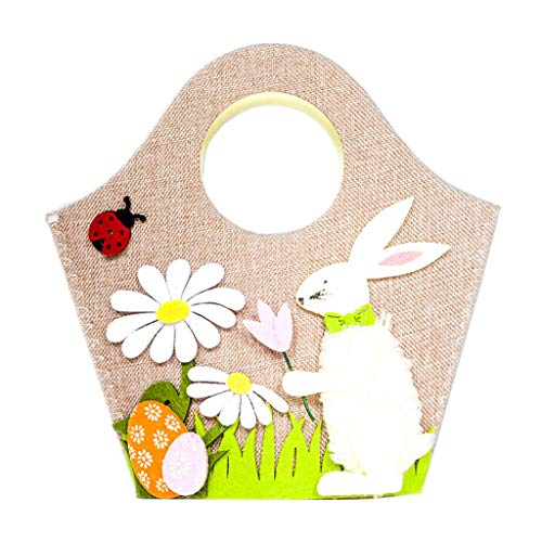 Clearance Sale!DEESEE(TM)Easter Rabbit Gift Candy Bag Creative Present Home Accessory (White) ()