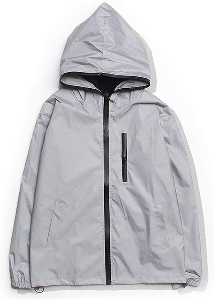 ASLIMAN 3M Reflective Jacket Mens Cycling Running Windbreaker Outdoor High Visibility