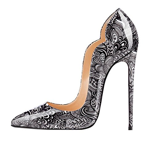EDEFS Damen Pumps,Lack High Heels,Stiletto Bohemien Stil Damenschuhe,Cut- outs ...