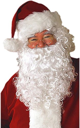 Rat Face Costume (Good Active Santa Beard and Wig Set Adult Santa Claus Costume Christmas)