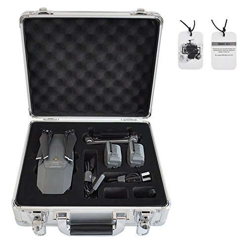 (Portable Aluminum Hard Case Box Suitcase for DJI Mavic Pro (Silver))