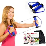 Gwee Gym Resistance Bands Exercise Kit – LITE | Counterforce Tension to Build Lean Muscle | This Total Body Workout Kit includes a Workout DVD, Travel Bag, and Healthy Eating e-Book