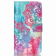 HTC 626 Case, HTC 626s Case, Chinstyle HTC Desire 626 / 626s PU Leather Wallet Case Magnetic Closure Popular Colorful Tribal Flower Pattern Flip Cover
