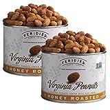 FERIDIES Honey Roasted Virginia Peanuts - 2 Pack 18oz Cans