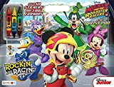 Mickey and the Roadster Racers Artist Pad Includes 3 Dual-Color Crayons and Over 50 Stickers - 40 Pages of Coloring