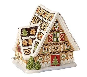 Villeroy & Boch Christmas Toys Caja de música y portavelas Casa de Jengibre, Porcelana,