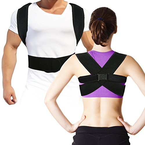 (Back Posture Corrector Clavicle Support Brace for Women & Men for Your Upper, Lower Back, Helps to Improve Posture, Prevent Slouching and Upper, Lower Back Pain Relief, Fully Adjustable M)