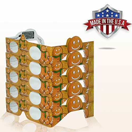 3D Christmas Glasses - 5 Pack - A Fun Christmas Experience! Turn Holiday Lights Into Magical Images. At Every Point Of Light See GINGERBREAD! Our USA MADE Holiday Specs Are Perfect For Festivities!