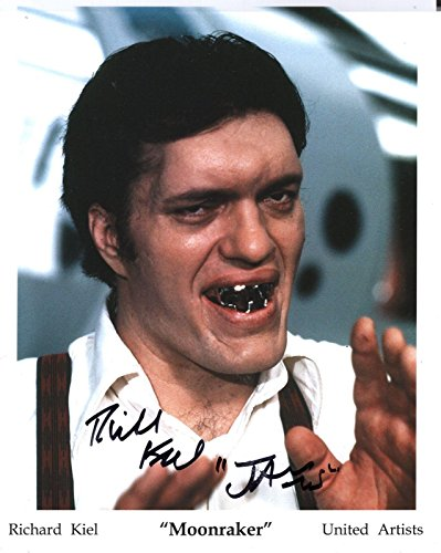 Signed 8x10 Color Movie Photo (RICHARD KIEL HAND SIGNED 8x10 COLOR PHOTO+COA JAWS FROM JAMES BOND MOVIES)