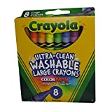 Arts & Crafts : Crayola Washable Crayons, Large, 8 Colors - 2 Packs