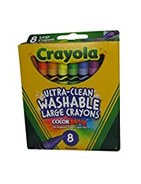 Crayola Washable Crayons, Large, 8 Colors - 2 Packs BOBEBE Online Baby Store From New York to Miami and Los Angeles