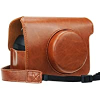 Blummy Instax Wide 300 PU Leather Camera Case for Fujifilm Instax Wide 300 Instant Flim Camera with Adjustable Shoulder Strap (Brown)