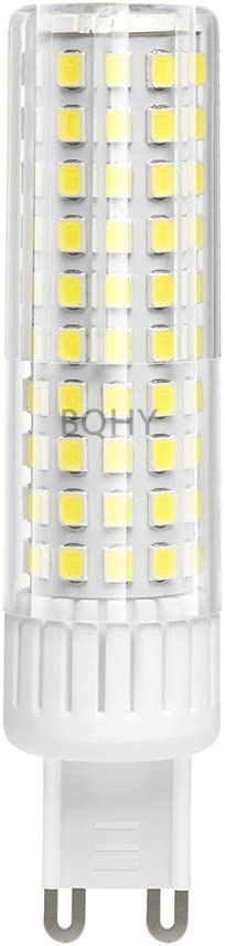 bqhy 1-Packs 8.5W G9 LED bombilla luz Regulable Blanco Frío 6000K 90-265V Cabeza de la Lámpara Espiral LED Bombilla Reemplazar Incandescente 100W