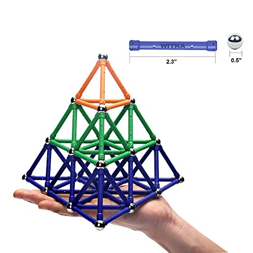 WITKA 99 Pieces Magnetic Building Sticks Blocks Toy Brain Training STEM Toys Intelligence Learning Games Set Gift for…