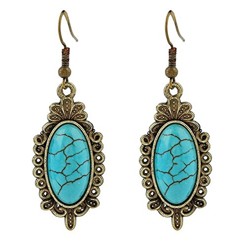 - LAMEIDA Vintage Dangle Earrings Turquoise Earrings Studs Jewelry Accessories For Women Girls Birthday Festival Party Gift
