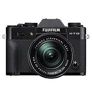 Fujifilm X-T10 Black Mirrorless Digital Camera Kit with XC16-50mm F3.5-5.6 OIS II Lens (Old Model)