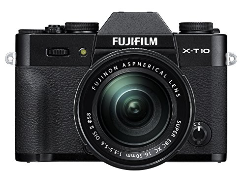 Fujifilm X-T10 Black Mirrorless Digital Camera Kit with XC16