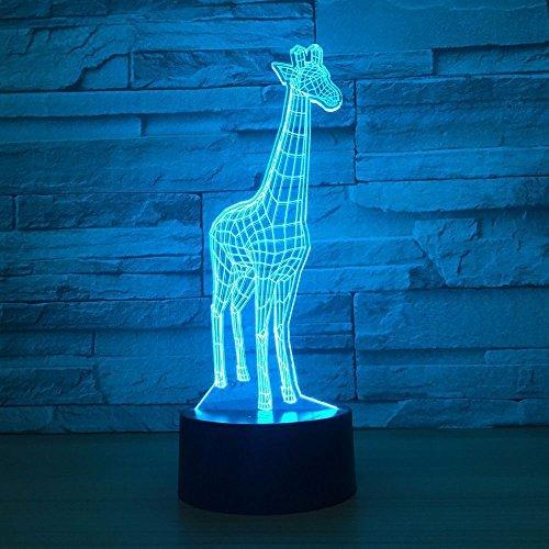 Aniamls Giraffe 3D Night Light Touch LED Table Desk Lamps 7 Color Changeable Desk Lamp Table Household Room Decoration Gift,Birthday Gift Christmas Gift Toys for Children Kids