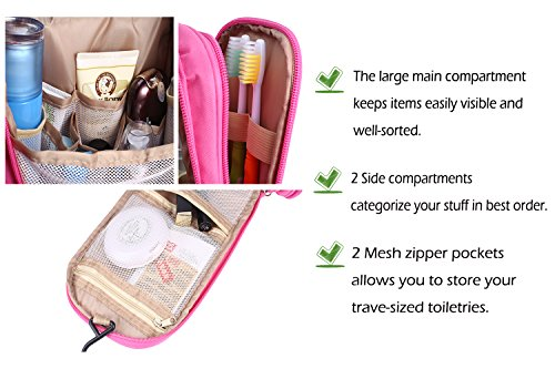 a7a2e7836863 Travel Toiletry Bag Hanging Cosmetic Makeup Organizer with Hanging Hook Waterproof  Gym Shower Bag for Women
