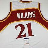 Autographed/Signed Dominique Wilkins Atlanta White