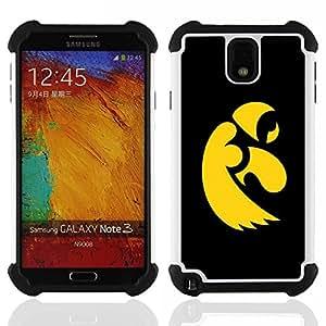 - cool black yellow eagle/ H??brido 3in1 Deluxe Impreso duro Soft Alto Impacto caja de la armadura Defender - SHIMIN CAO - For Samsung Galaxy Note3 N9000 N9008V N9009