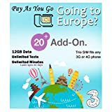 Best International Sim Cards - PrePaid Europe (UK Three) sim Card 12GB Data+Unlimited Review