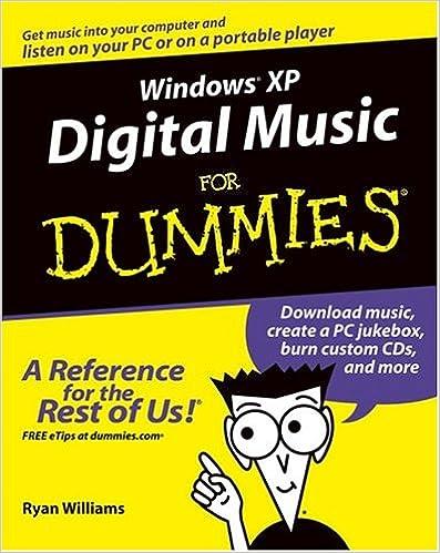 Windows XP Digital Music For Dummies: Ryan C  Williams