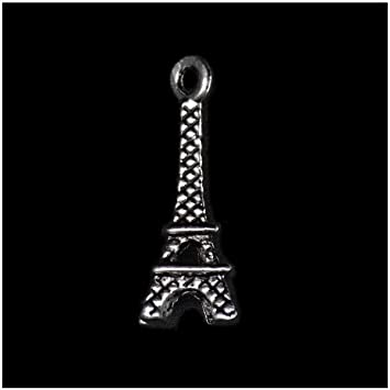 BULK Charms Eiffel Tower Charms 3D Antiqued Silver Wholesale Charms 50 pieces