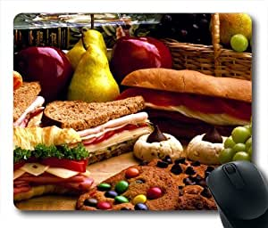 Delicious Food Design Oblong Shaped Mouse Mat