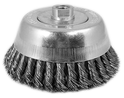 Shark 13990    6-Inch by 5/8-11NC Single Row Knotted Cup Brush with 0.020-Gauge Stainless Steel