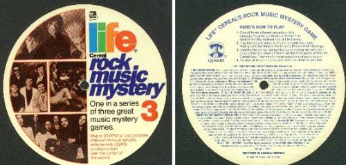 Price comparison product image Quaker Oats-Life Cereal Premium Rock Music Mystery Contest Record 3