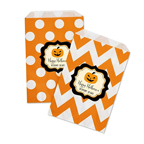 (48 Personalized Halloween Party Goodie Candy Treat Favor Gift)