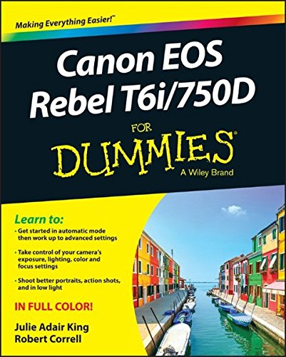 Price comparison product image Canon EOS Rebel T6i / 750D For Dummies (For Dummies (Computer / Tech))