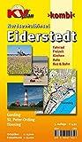 Eiderstedt Nordseehalbinsel - St. Peter Ording, Tönning, Garding: 1:15.000 Detailkarten der Orte mit Freizeitkarte 1:30.000 inkl. aller Radrouten (KVplan Schleswig-Holstein-Region)