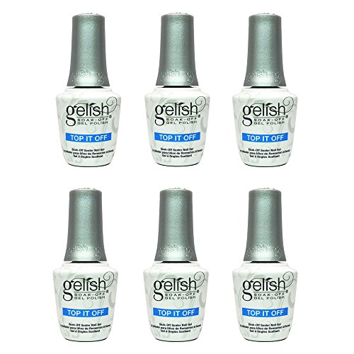 Gelish Harmony 0.5 Fluid Oz. Soak-Off Top-It-Off Sealer Gel Polish (6 Pack) by Gelish