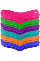 Luxury Divas Solid Colors Assorted Toasty Fuzzy 6 Pack Slipper Socks