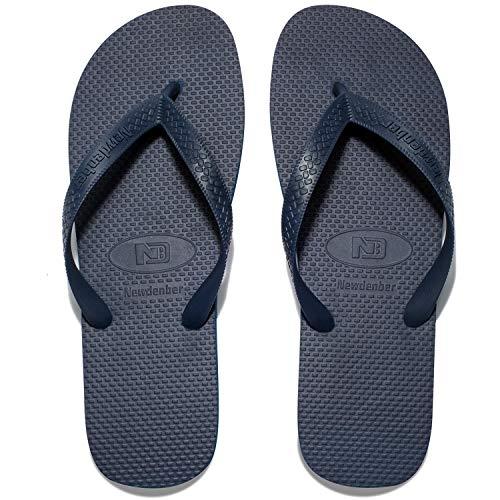 Rubber Thong Sandals - NDB Men's & Women's Classical Comfortable EVA Rubber Sandal Flip Flop (14 M US Women / 11 M US Men, Navy/Blue)