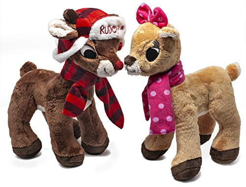 Dandee International Limited Rudolph The Red Nosed Reindeer & Clarice Stuffed Animals 2 Piece Holiday Bundle 2018 -