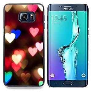 Stuss Case / Funda Carcasa protectora - Corazones Luces Rosa Noche trullo Desenfoque Amor - Samsung Galaxy S6 Edge Plus / S6 Edge+ G928