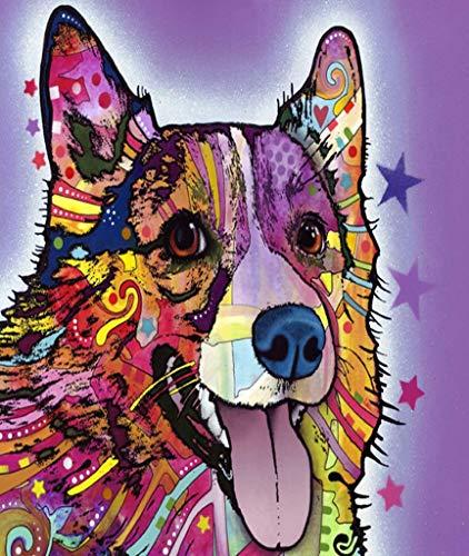 TINMI ARTS-5D DIY Diamond Painting Makeup Dog Full Round-Mosaic Cross Stitch Kits Handmade Canvas Picture Handicrafts Wall Decoration-14