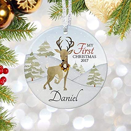 murieljerome my first christmas ornament 2018 2019 personalized babys first christmas for newborn adoption