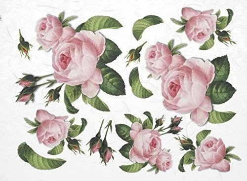 Rice paper flowers roses scrapbook paper decoupage paper craft 519jv3cuarlg mightylinksfo