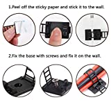 50Pcs Adhesive Cable Management Ties Extra Screw
