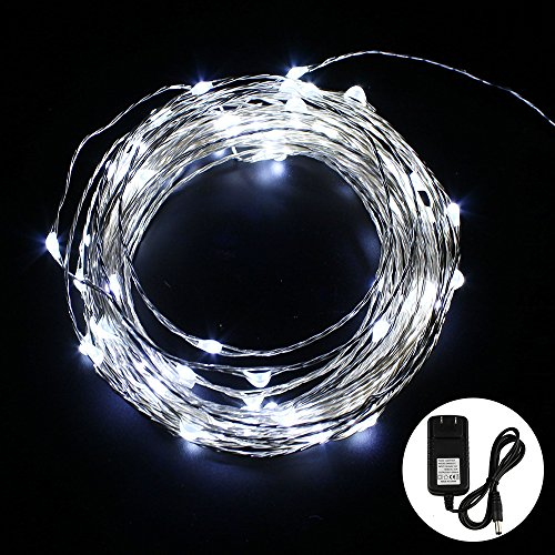 GALYGG LED Copper Wire String Lights, 33ft