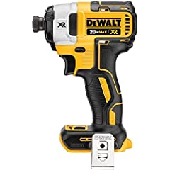 """The Certified Refurbished DEWALT DCF887BR 20V MAX* XR Brushless 1/4"""" 3-Speed Impact Driver is compact for fitting in tight spaces and increasing productivity. Three LED lights make it ideal for working in the dark."""